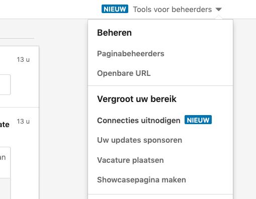 LinkedIn connecties uitnodigen bedrijfspagina