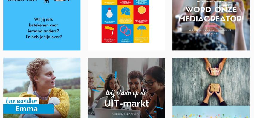 Humanitas vrijwilligers werven instagram